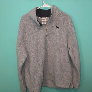 PINK Sherpa 1/4 zip pullover